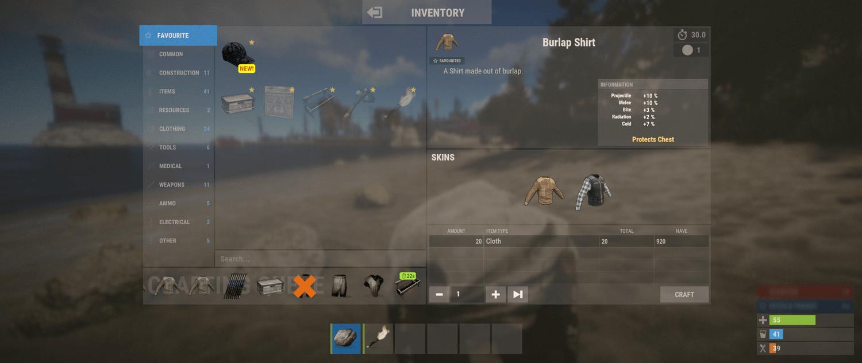Улучшение крафта Rust