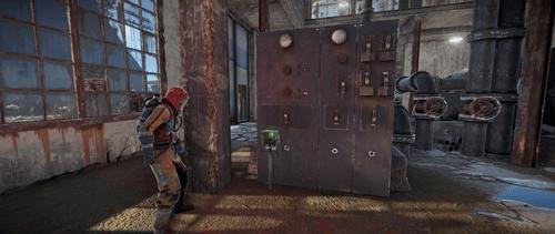 Включите переключатель на первом этаже здания
